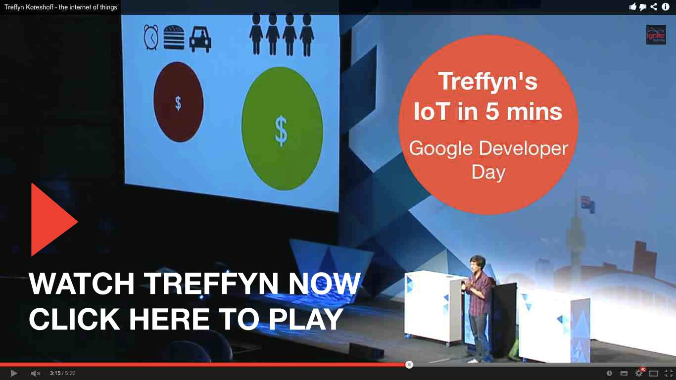 Treffyn Koreshoff speaking at Google Developer Day
